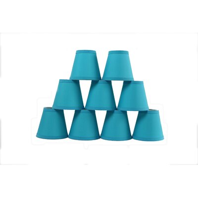 6 Cotton Empire Lamp Shade Color: Teal