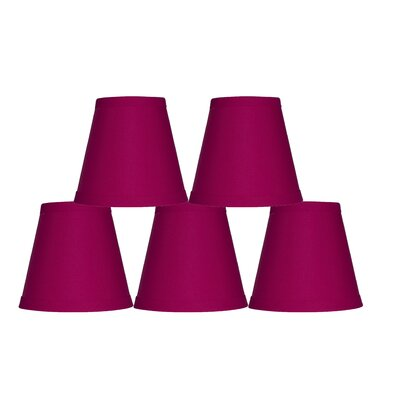 5 Cotton Hardback Empire Clip-on Candelabra Shade Color: Fuchsia