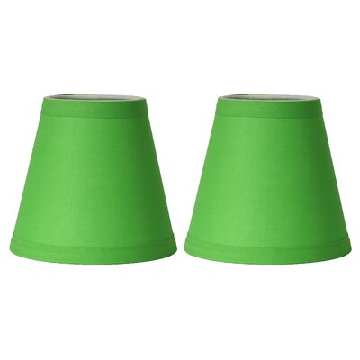 5 Cotton Empire Candelabra Shade Color: Bright Green