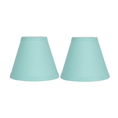 6 Cotton Empire Clip-on Lamp Shade Color: Turquoise