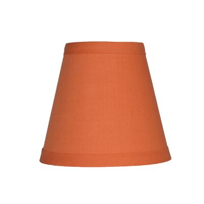 5 Cotton Empire Clip-on Candelabra Shade Color: Orange