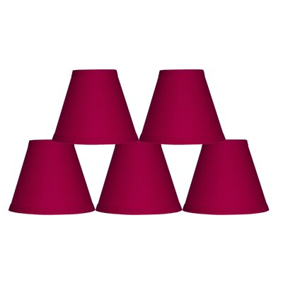 6 Cotton Empire Lamp Shade Color: Fuchsia