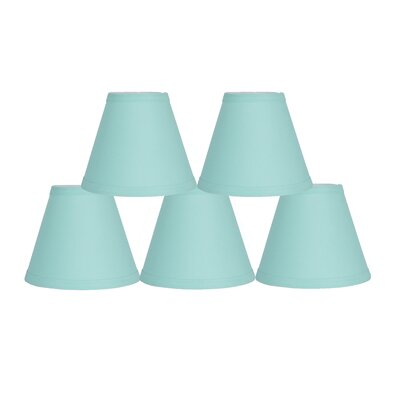 6 Cotton Empire Lamp Shade Color: Turquoise