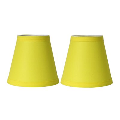5 Cotton Empire Candelabra Shade Color: Yellow