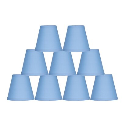 5 Cotton Hardback Empire Clip-on Candelabra Shade Color: Baby Blue