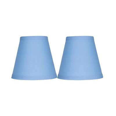 5 Cotton Empire Candelabra Shade Color: Baby Blue