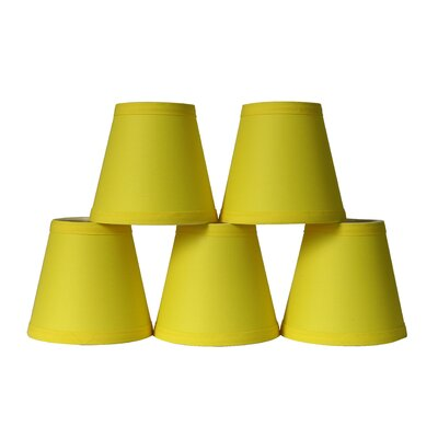 5 Cotton Hardback Empire Clip-on Candelabra Shade Color: Yellow