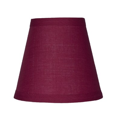 5 Cotton Hardback Empire Candelabra Shade Color: Burgundy