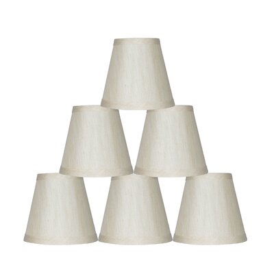 5 Silk Empire Clip-on Candelabra Shade Color: Cream