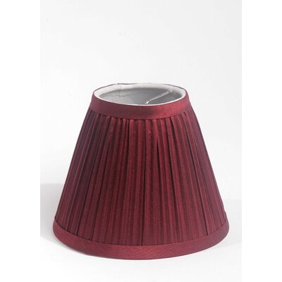 Pleat 6 Silk Empire Lamp Shade Color: Burgundy
