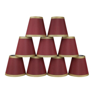 5 Silk Empire Candelabra Shade with Trim Color: Burgundy