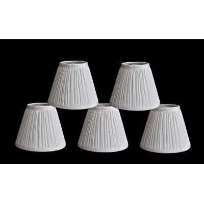 Pleat 6 Silk Empire Lamp Shade Color: White