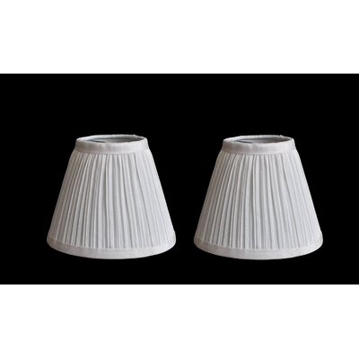 Pleat 6 Silk Empire Lamp Shade Color: Off White