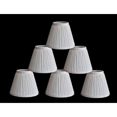 Pleat 6 Silk Empire Lamp Shade Color: White