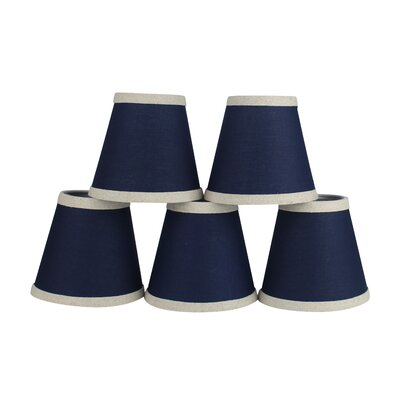 5 Cotton Empire Candelabra Shade with Trim
