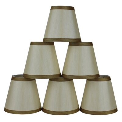 5 Silk Empire Candelabra Shade with Trim Color: Cream