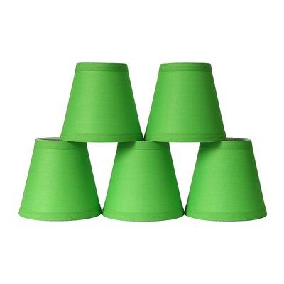 5 Cotton Hardback Empire Clip-on Candelabra Shade Color: Bright Green