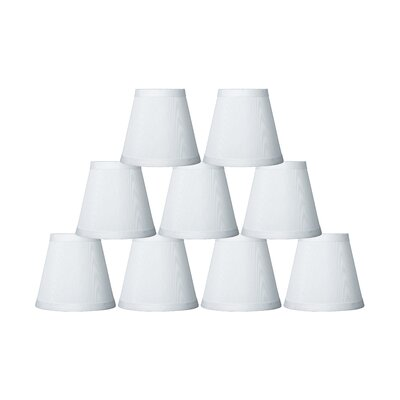 5 Silk Empire Clip-on Candelabra Shade Color: Off White