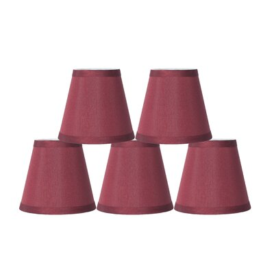 5 Silk Empire Clip-on Candelabra Shade Color: Burgundy
