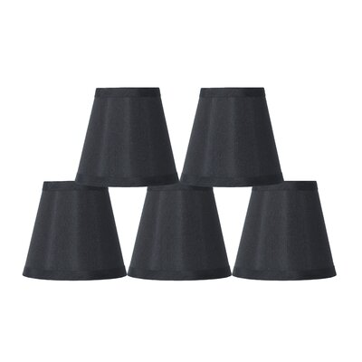5 Silk Empire Clip-on Candelabra Shade Color: Black