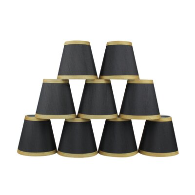 5 Silk Empire Candelabra Shade with Trim Color: Black