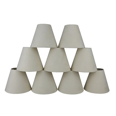 6 Suede Empire Lamp Shade Color: Cream