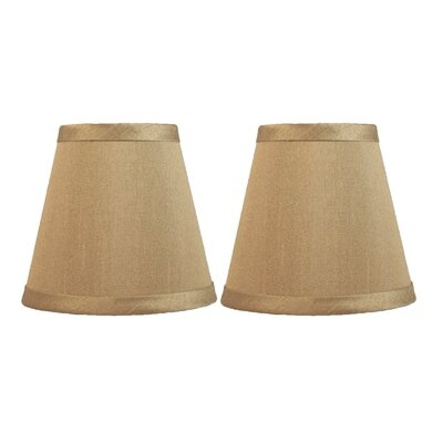 5 Silk Hardback Empire Clip-on Candelabra Shade Color: Taupe