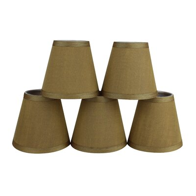 5 Silk Empire Candelabra Shade Color: Gold
