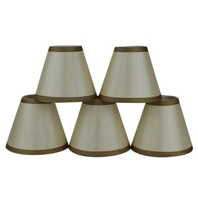 6 Silk Empire Candelabra Shade with Trim Color: Cream