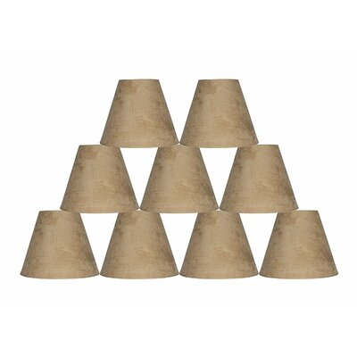 6 Suede Empire Lamp Shade Color: Tan
