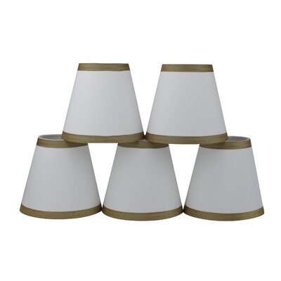 5 Silk Empire Candelabra Shade with Trim Color: Off White