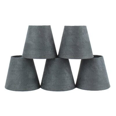 5 Suede Empire Candelabra Shade Color: Gray