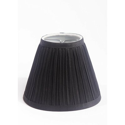 Pleat 6 Silk Empire Lamp Shade Color: Black