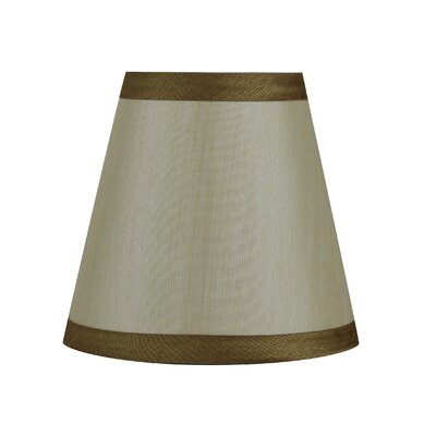 5 Silk Empire Clip-on Candelabra Shade with Trim Color: Cream