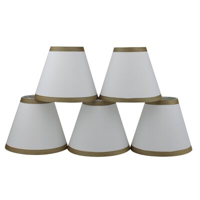 6 Silk Empire Candelabra Shade with Trim Color: Off White