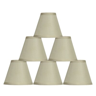 6 Satin Empire Lamp Shade Color: Beige