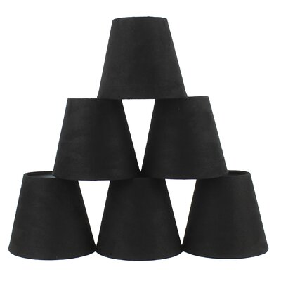 5 Suede Empire Candelabra Shade Color: Black