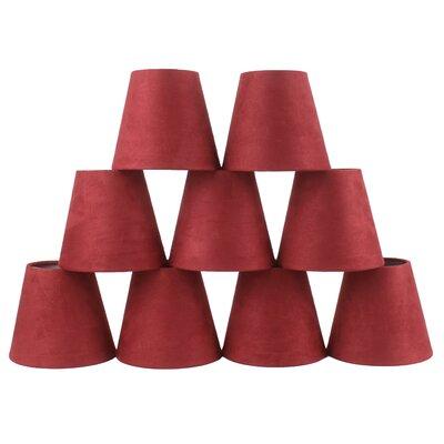 5 Suede Empire Candelabra Shade Color: Red