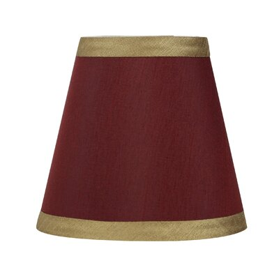 5 Silk Empire Clip-on Candelabra Shade with Trim Color: Burgundy