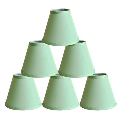 6 Satin Empire Lamp Shade Color: Olive Green