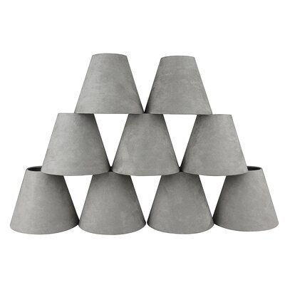 6 Suede Empire Lamp Shade Color: Silver