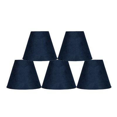 6 Suede Empire Lamp Shade Color: Navy Blue