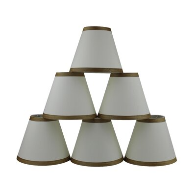 6 Silk Empire Candelabra Shade with Trim Color: Eggshell