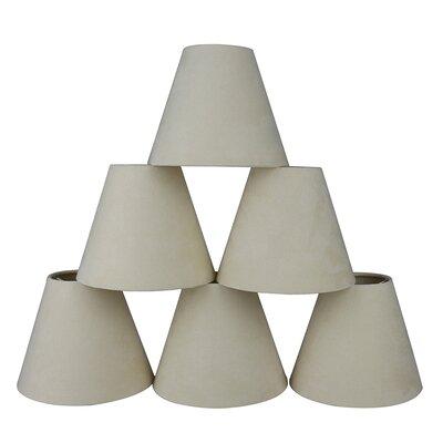 6 Suede Empire Lamp Shade Color: Cream