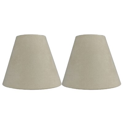 6 Suede Empire Candelabra Shade Color: Cream