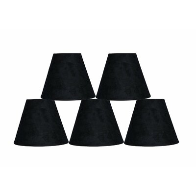 6 Suede Empire Lamp Shade Color: Black
