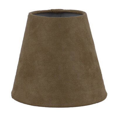 5 Suede Empire Candelabra Shade Color: Tan