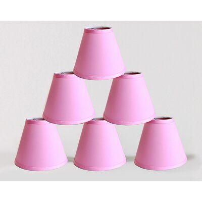 6 Satin Empire Lamp Shade Color: Pink