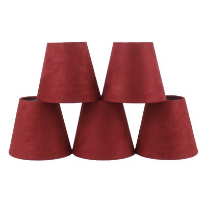5 Suede Empire Candelabra Shade Color: Red