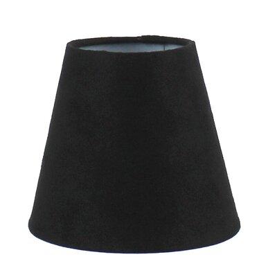 5 Suede Empire Candelabra Shade Color: Black